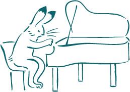 ちいさいピアノうさぎ