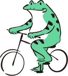 自転車カエルくん